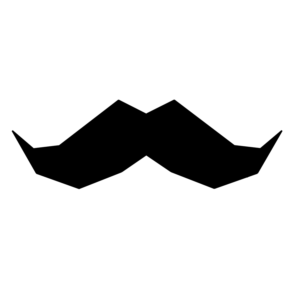 Moustache Square Icon 1000×1000
